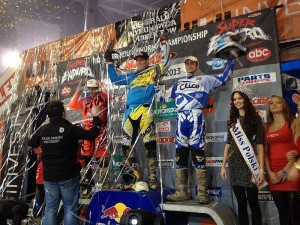 Super Enduro podium 2013 - Rd2 Poland